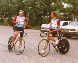 NÖ Meisterschaft Paarzeitfahren 1987 Thom + Geri