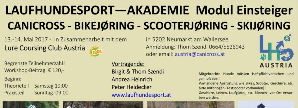 LAUFHUNDESPORT-AKADEMIE Modul Einsteiger am 13.-14.05.2017